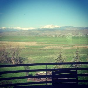 The view in Colorado
