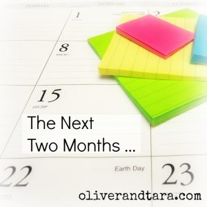 The Next Two Months | oliverandtara.com