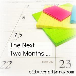 The Next Two Months | oliverandtara.com