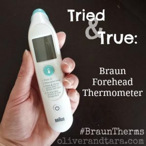 Triedd and True: Braun Forehead Thermometer | oliverandtara.com