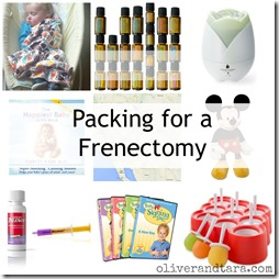 Packing for a Frenectomy | A peek into what is inside Liam's procedure bag over at http://www.oliverandtara.com/packing-for-a-frenectomy/