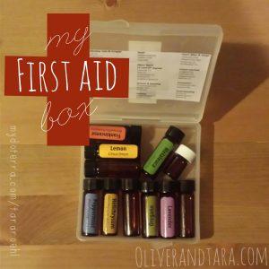 Essential Oils First Aid Box | http://www.oliverandtara.com